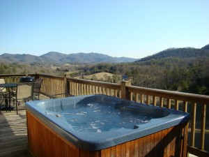 Private Hot Tub and View from Octagon Suite